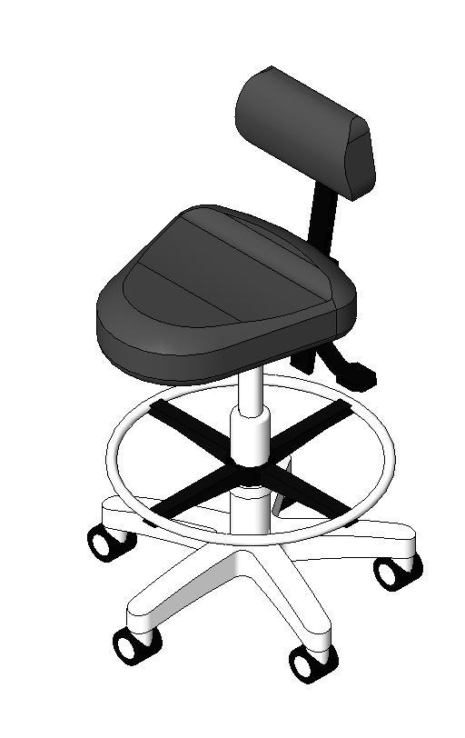 Midmark - Operator Chair, Triangular-Style Seat