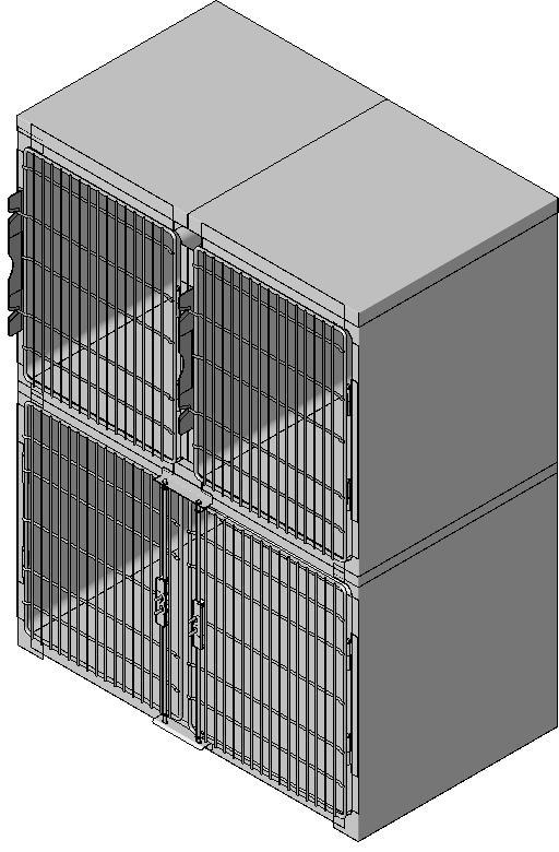 Midmark - Pre-configured Cage Bank 3 Unit-1