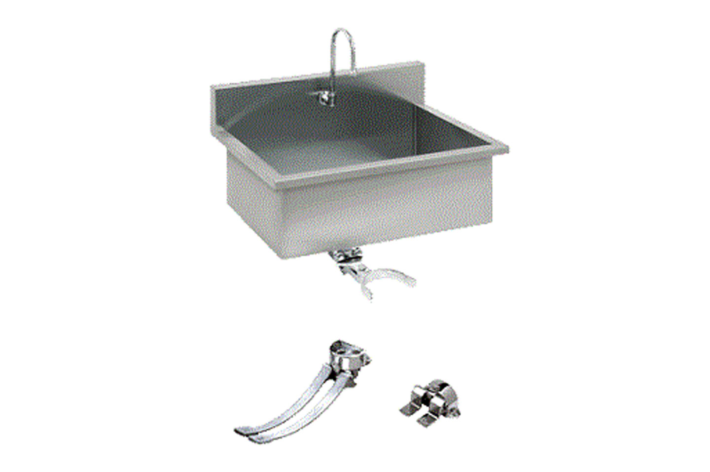 Scrub-sink-gooseneck-faucet-choice-of-valve